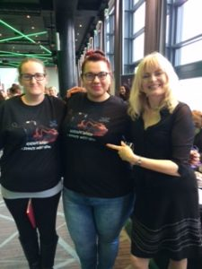 With Tracy and Rose in SLAVE TO THE RHYTHM t-shirts